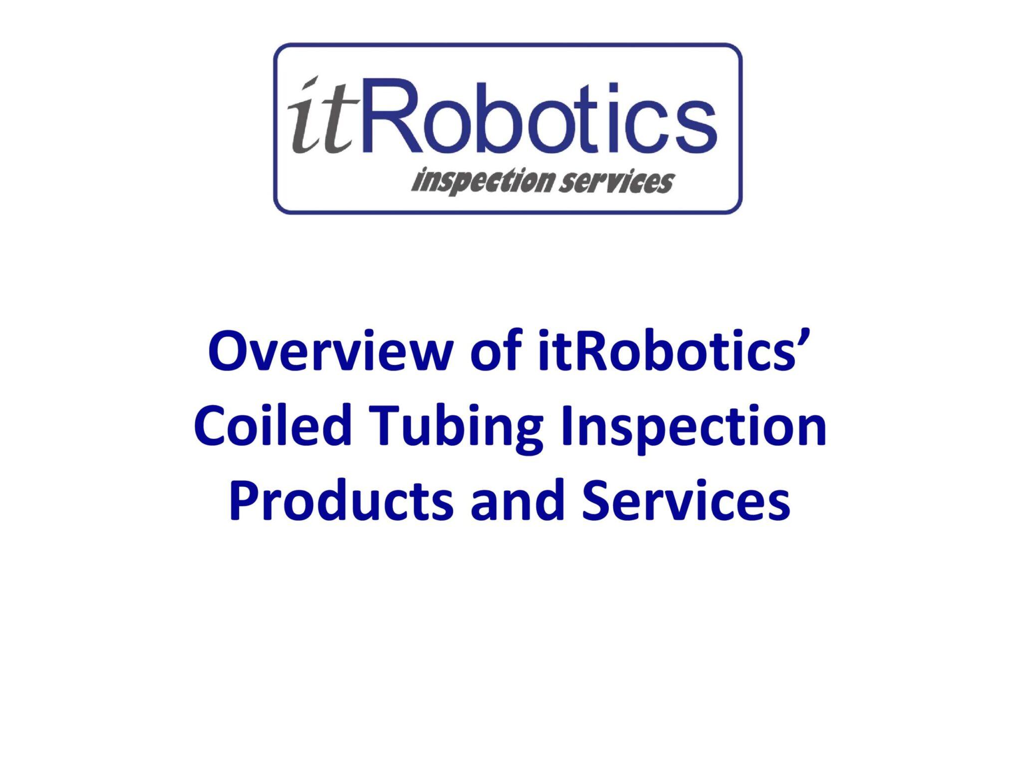 Overview of itRobotics