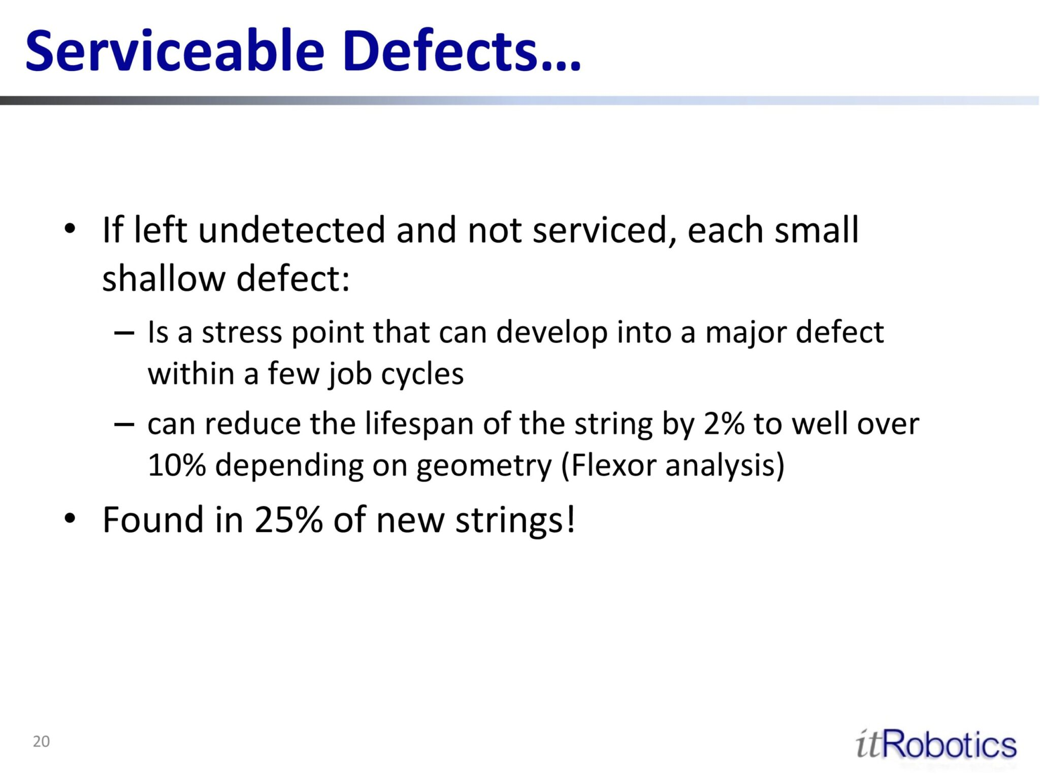 Serviceable Defects 2